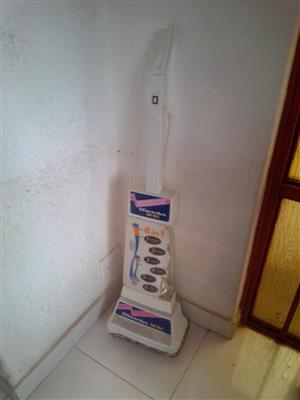 Electrolux Carpet, Floor and Tile Shampooer, Polisher and Cleaner. One set for polishing and one for Brushing. Please note that the tank is broken. That explains the Price. It will suit someone who does not need the tank, or has tank from the same machine