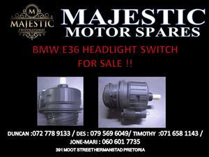 BMW E36 HEAD LIGHT SWITCH FOR SALE !!
