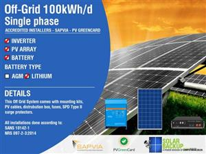 Off-Grid 100kWh per day – 16kw Inverter Single Phase