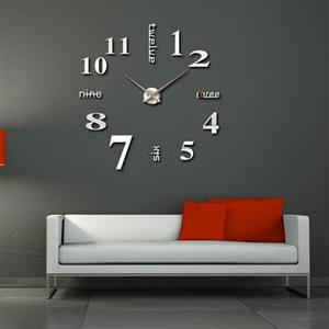 STUNNING 3D Wall Mirrored Clock LARGE