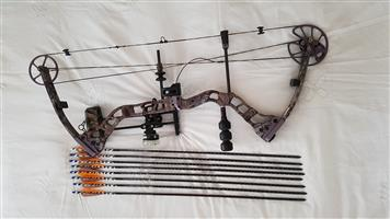 Quest QS33 Compound Bow with accessories. As New - Very Good Condition
