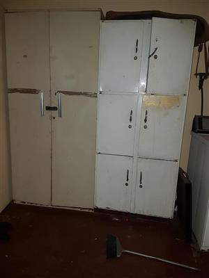White and beige steel cabinets for sale