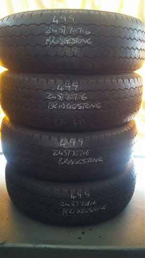 245/70/16  SECONDHAND TYRES