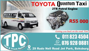 Toyota Quantum 2TR Engine - Used - Quality Replacement Taxi Spare Parts.