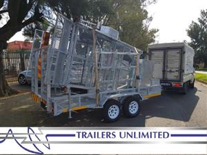 TRAILERS UNLIMITED. FLATBED HOT DIPPED GALVANIZED.