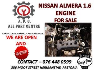 Nissan Almera 1.6 used engine for sale