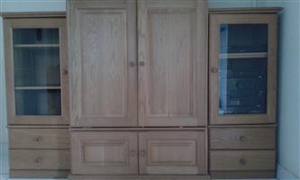 3 piece Solid Oak TV Cabinet for sale