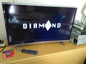 32 inch diamond curve TV
