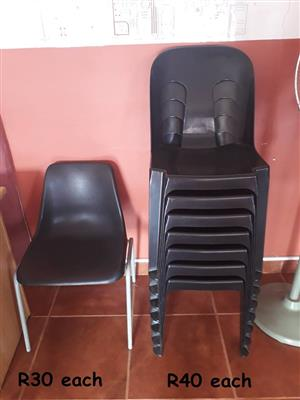 Black plastic chairs for sale