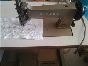 SINGER Industrial,QUILTING & EMBROIDERY machine heavy duty, hand operated manual chain stitch (single) .
