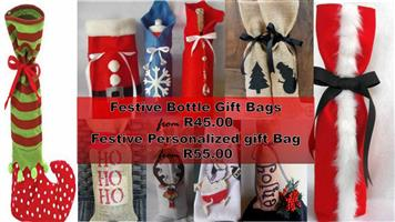 Handmade Christmas Stockings and giftbags