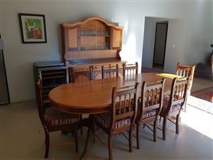 8 seater dining table with cabinet