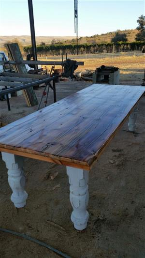2.2m x 900mm Solid Oregon Pine Table