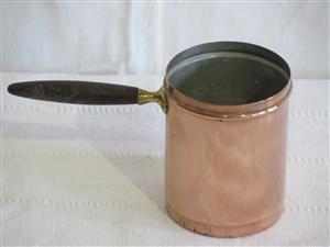 Small Antique Copper Measure with Wood Handle (SKU 238)