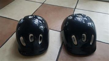 2 x kids bicycle helmets