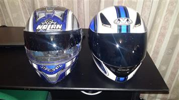 2 Blue helmets for sale