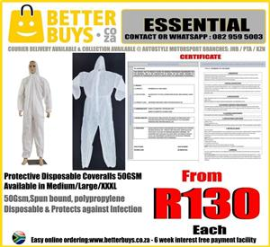 Protective Disposable Coveralls 50GSM