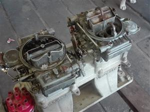 Chev manifold and carbs