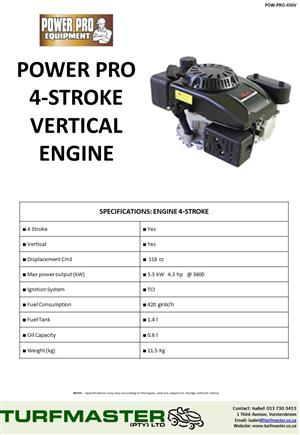 Power Pro 4.3Hp Vertical Engine