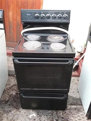 Defy black stove and oven