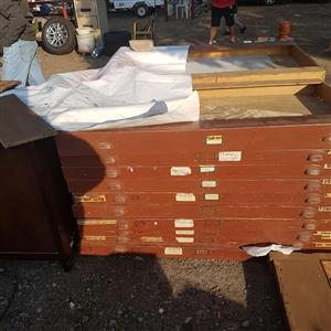 Very large loose wooden drawers
