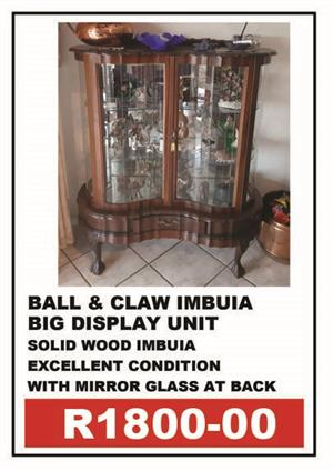 BALL & CLAW DISPLAY UNIT WITH MIRROR