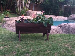 wooden plant box
