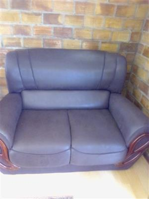 leatherette dark brown lounge