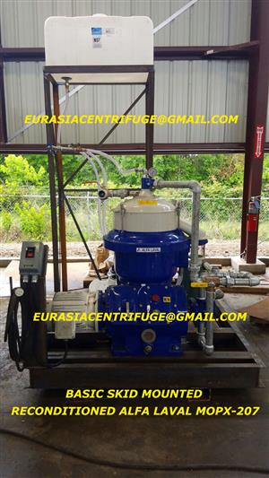 Used and Reconditioned Alfa Laval disc centrifuge with guaranty