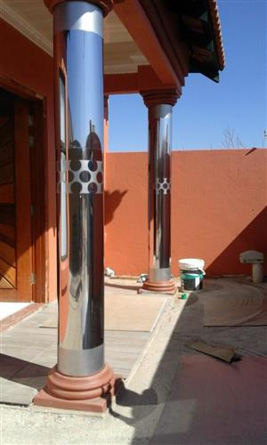 Pillar Covers & Gutters installation
