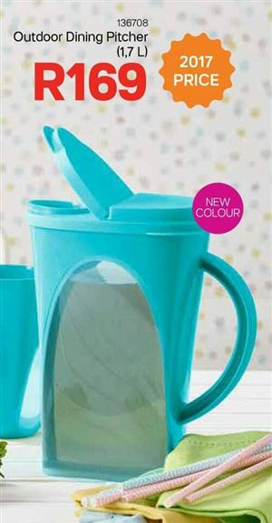 Blue outdoor dining pitcher for sale