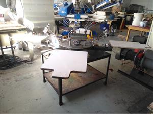 Manual Screen Printing Carousel