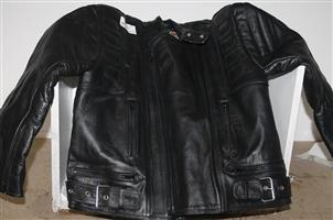 Leather biker jacket S037540A #Rosettenvillepawnshop