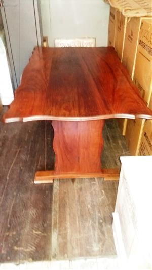ANTIQUE  DINING ROOM  TABLE  WITH  6  MATCHING CHAIRS