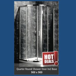 Quater Round Show Door - 900 x 900