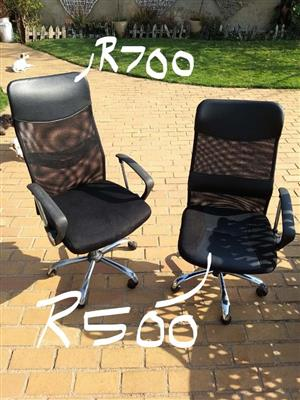 Large and small office chairs