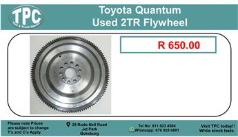 Toyota Quantum Used 2Tr Flywheel For Sale.