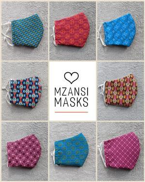 3-Layered Fabric Face Masks