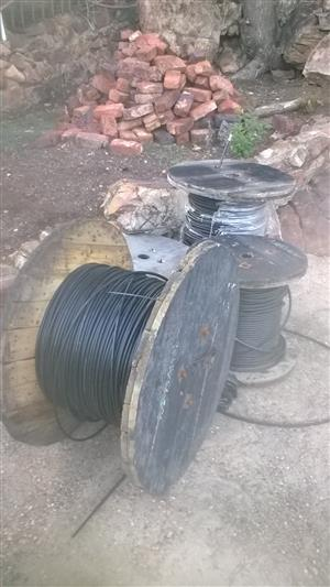 Aerial fibre optic cable. SSA single mode / SM 12 core and 24 core. R10/m and R12/m respectively.