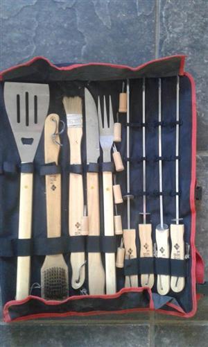 Complete braai utensil set