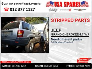 JEEP GRAND CHEROKEE 4.7 WJ STRIPPED PARTS FOR SALE