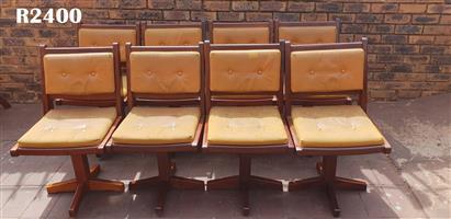 8 x Vintage Imbuia Chairs