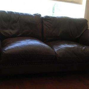 Original CORICRAFT AFRIQUE Genuine Leather Couches. 2x 2 seaters plus 1x 3 seater for sale