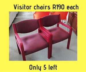 Red visitor chairs