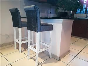 Two beautiful designer bar-stools in showroom condition!