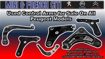 Used Control arms for sale on all Peugeot Models