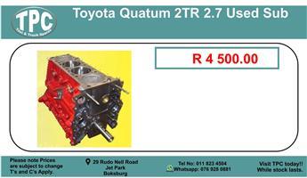 Toyota Quantum 2tr 2.7 Used Sub For Sale.