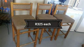 3 Suede top bar chairs