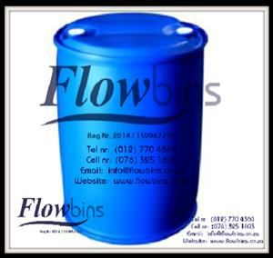 210Lt Blow Pack Plastic drums - Blue plastic drums from R260