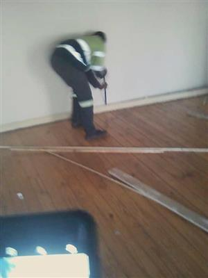 Stripping of old wooden floors and replacing with concrete floor